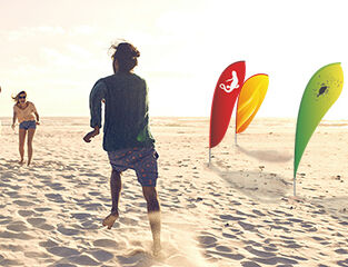 werbeland®-News: Beachflags am Strand.